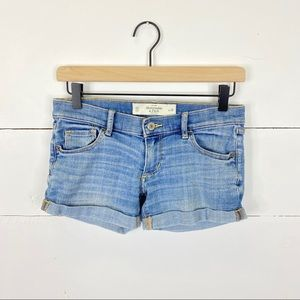 Abercrombie & Fitch Distressed Rolled Hem Shorts